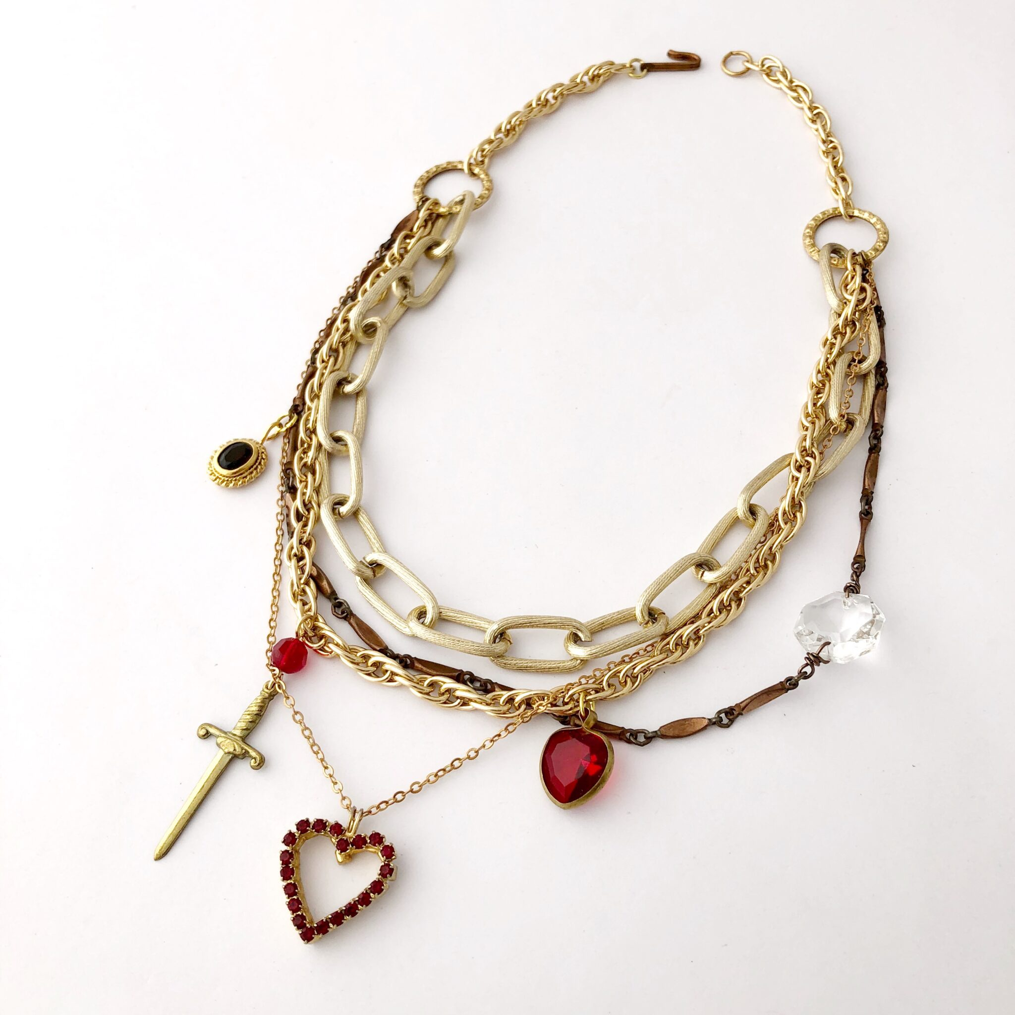 Curiosity-necklace-in-red by My Vintage Obsession