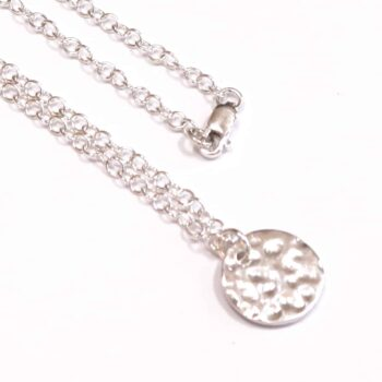 sterling-silver-chain-with-beaten-sand-disc-pendant-disc-measures-12mm-approx-medium-78-00-by-julie-stephens-designs-fitzroy-126103-juliestephens
