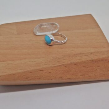 Turquoise Ring set in sterling silver by GermanoArts