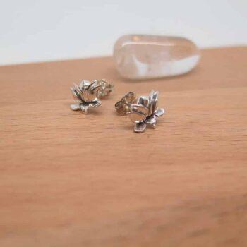 earringsterling-silver-lotus-flower-studs-germano-arts-919066-Germano Arts