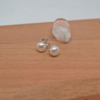 earrings-a-grade-white-pearl-studs-ssilver-germano-arts-919064-Germano Arts