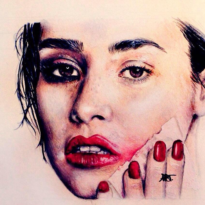 Demi – Print By Adriana Artmeier