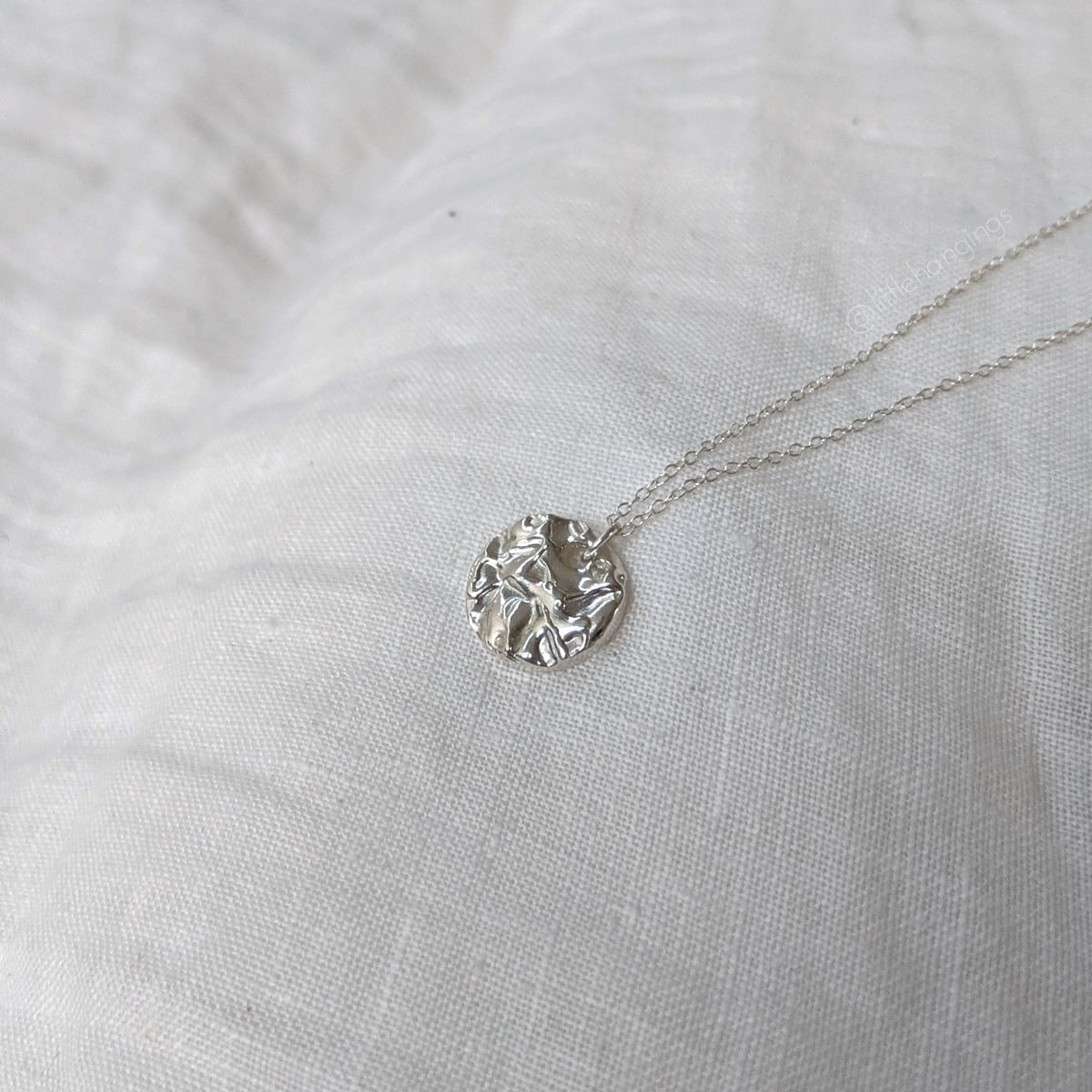 Tide Pool Necklace In Sterling Silver By Little Hangings