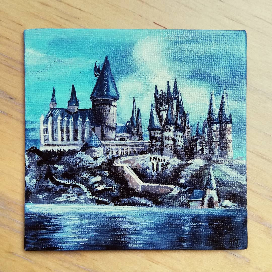Hogwarts Original Canvas Artwork By Adriana Artmeier