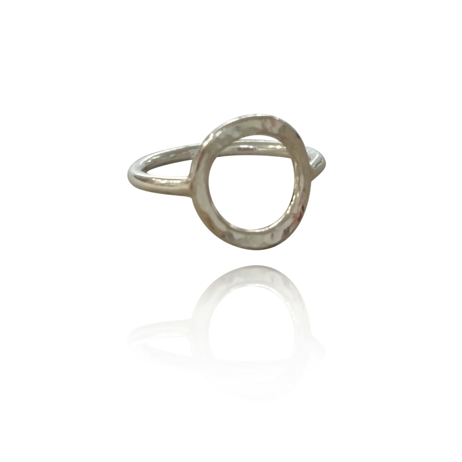 R15 – Hammered Circle Ring  -Sterling Silver(Tray #2) -30. By Sterling Silver 925