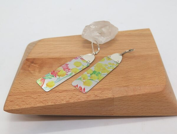 earrings-dye-sublimation-wattle-flowers-with-sterling-silver-germano-arts-919075-Germano Arts