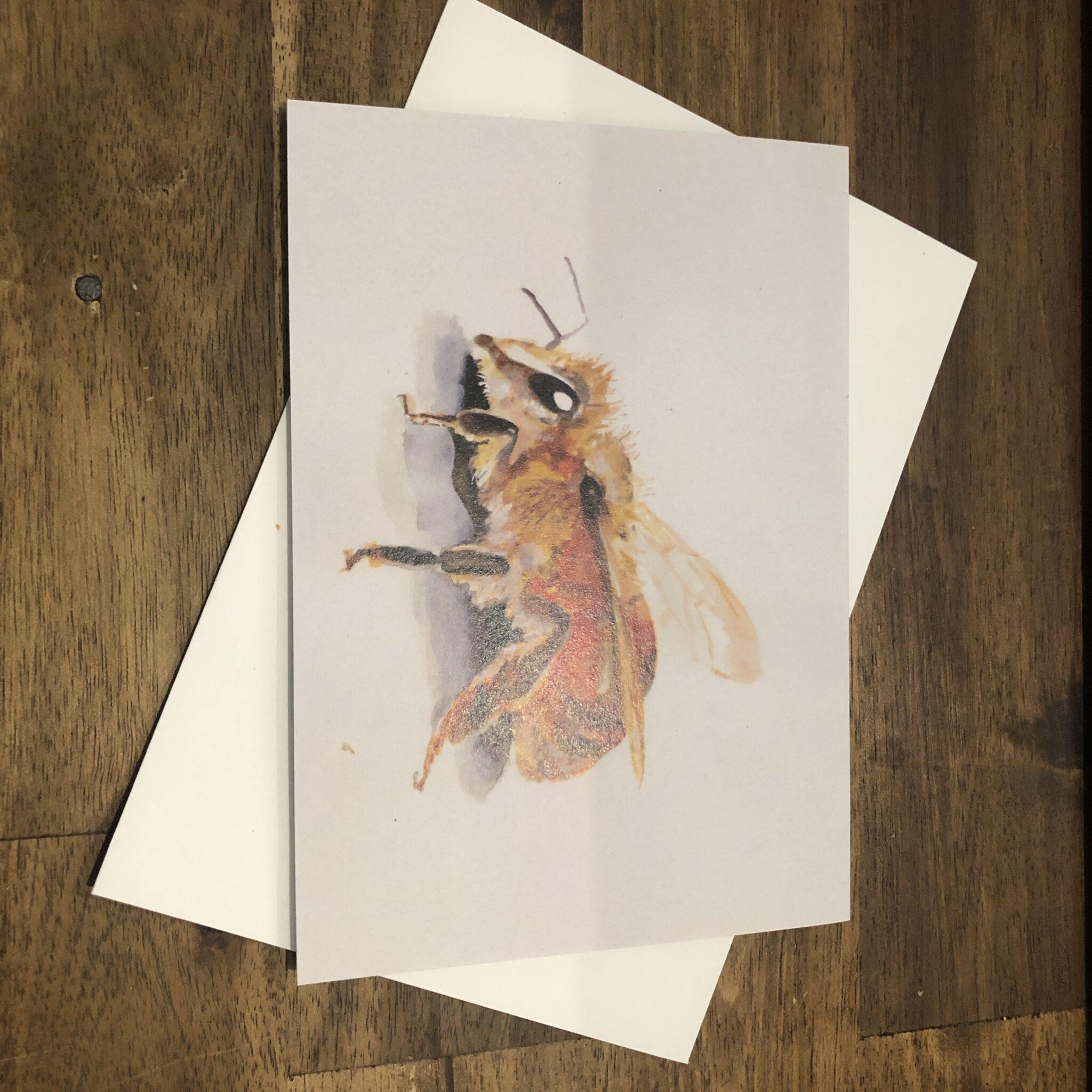 Honey Bee Greeting Card By Skye O'Shea (Prahran)