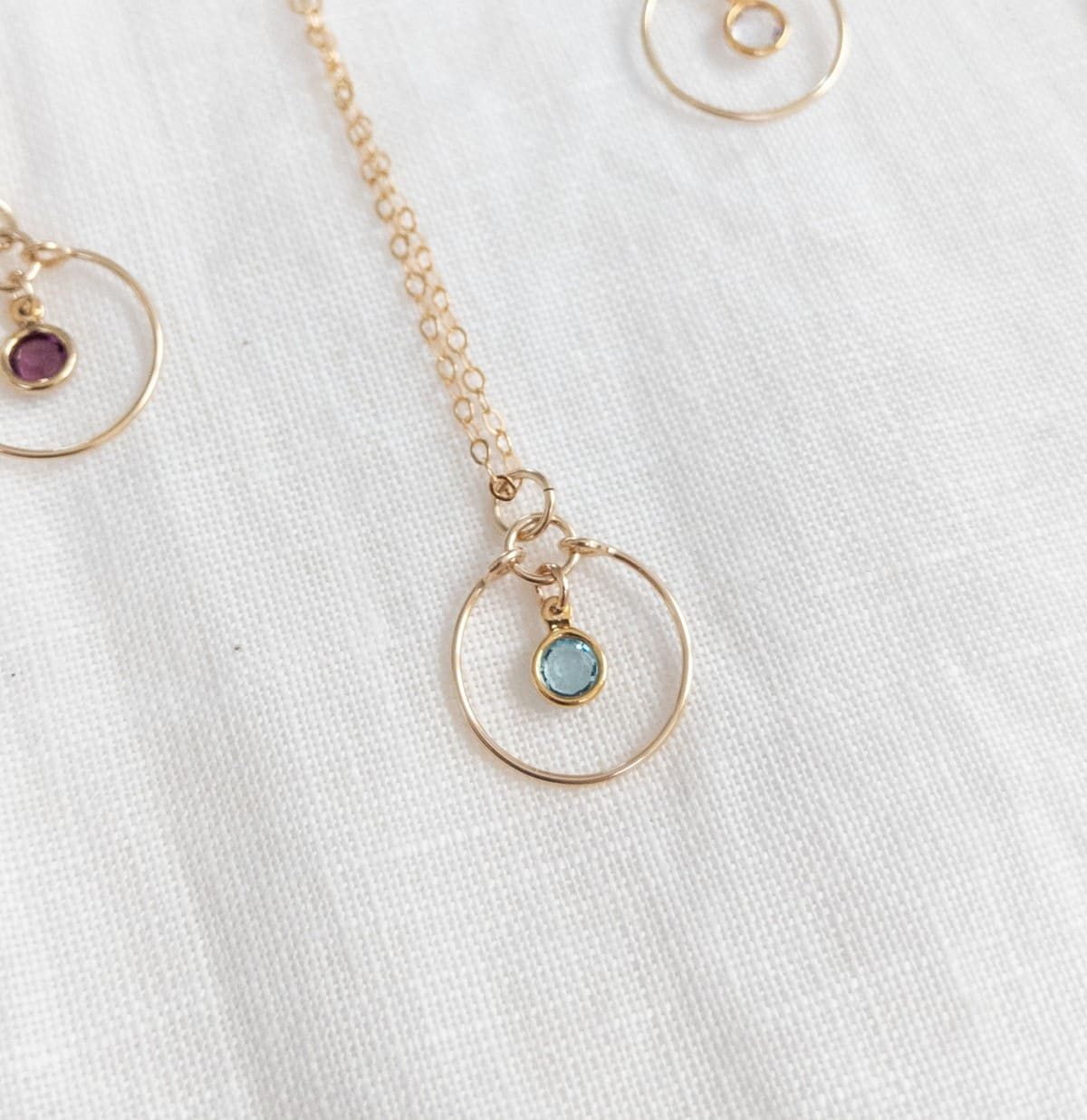 Gem Necklace Aquamarine In 14k Gold Filled By Little Hangings