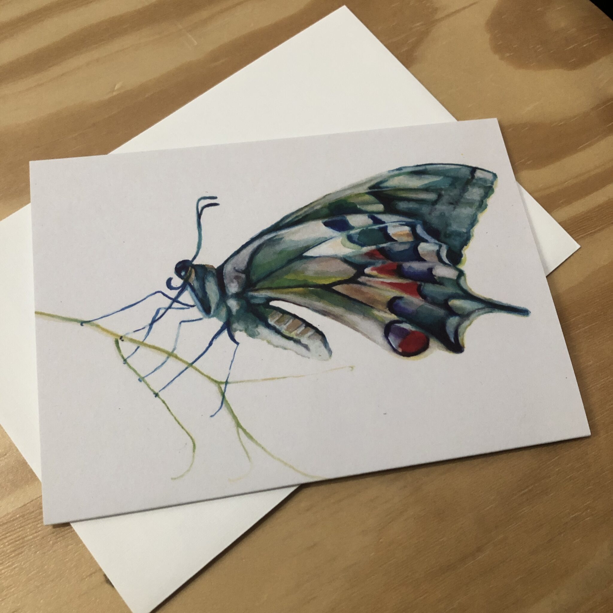Butterfly Greeting Card By Skye O'Shea (Prahran)