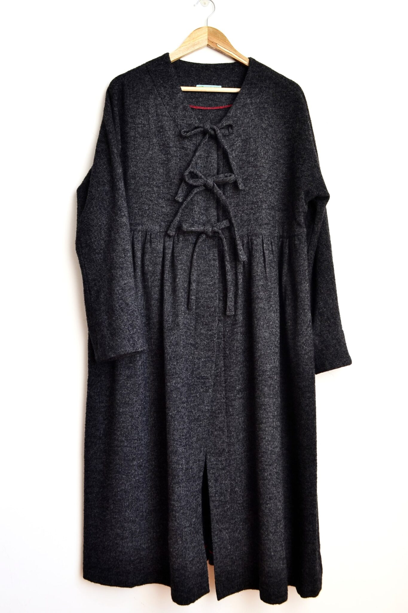 Blanket Coat, Black, Tapered Sleeve By à Pois