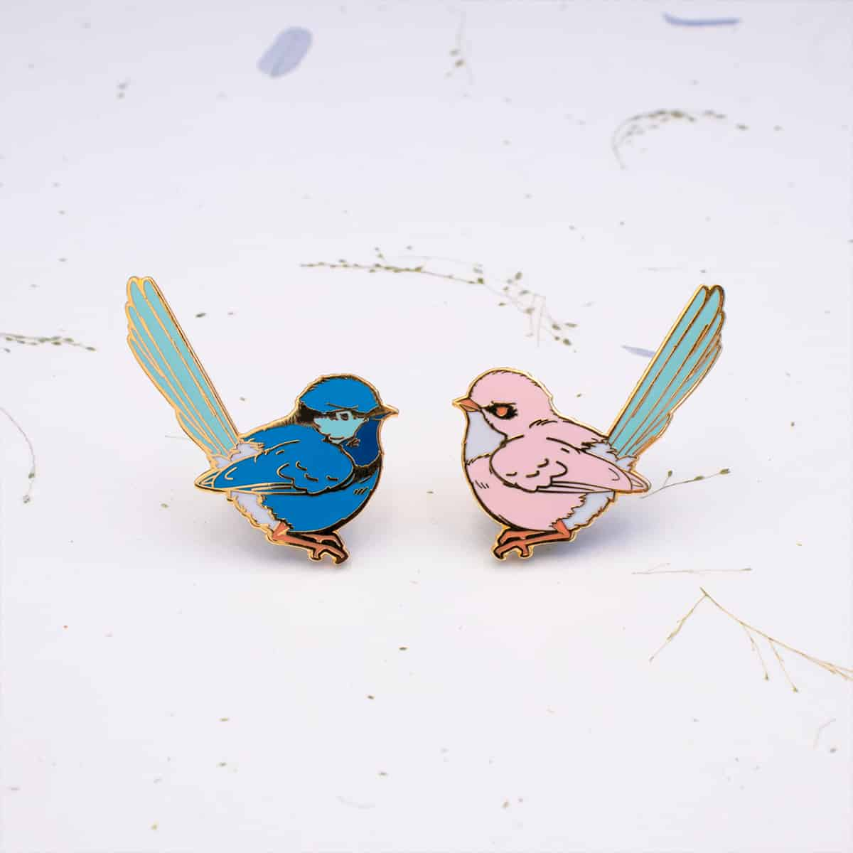 Splendid Fairy-Wren Blue (Left) By Oh Jessica Jessica