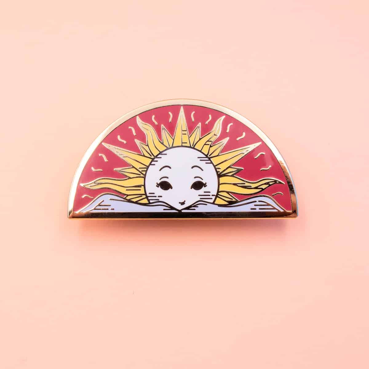Sun Enamel Pin By Oh Jessica Jessica