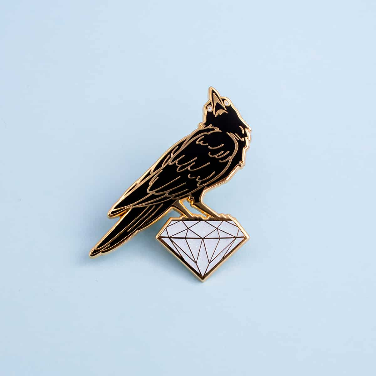 Raven Enamel Pin By Oh Jessica Jessica