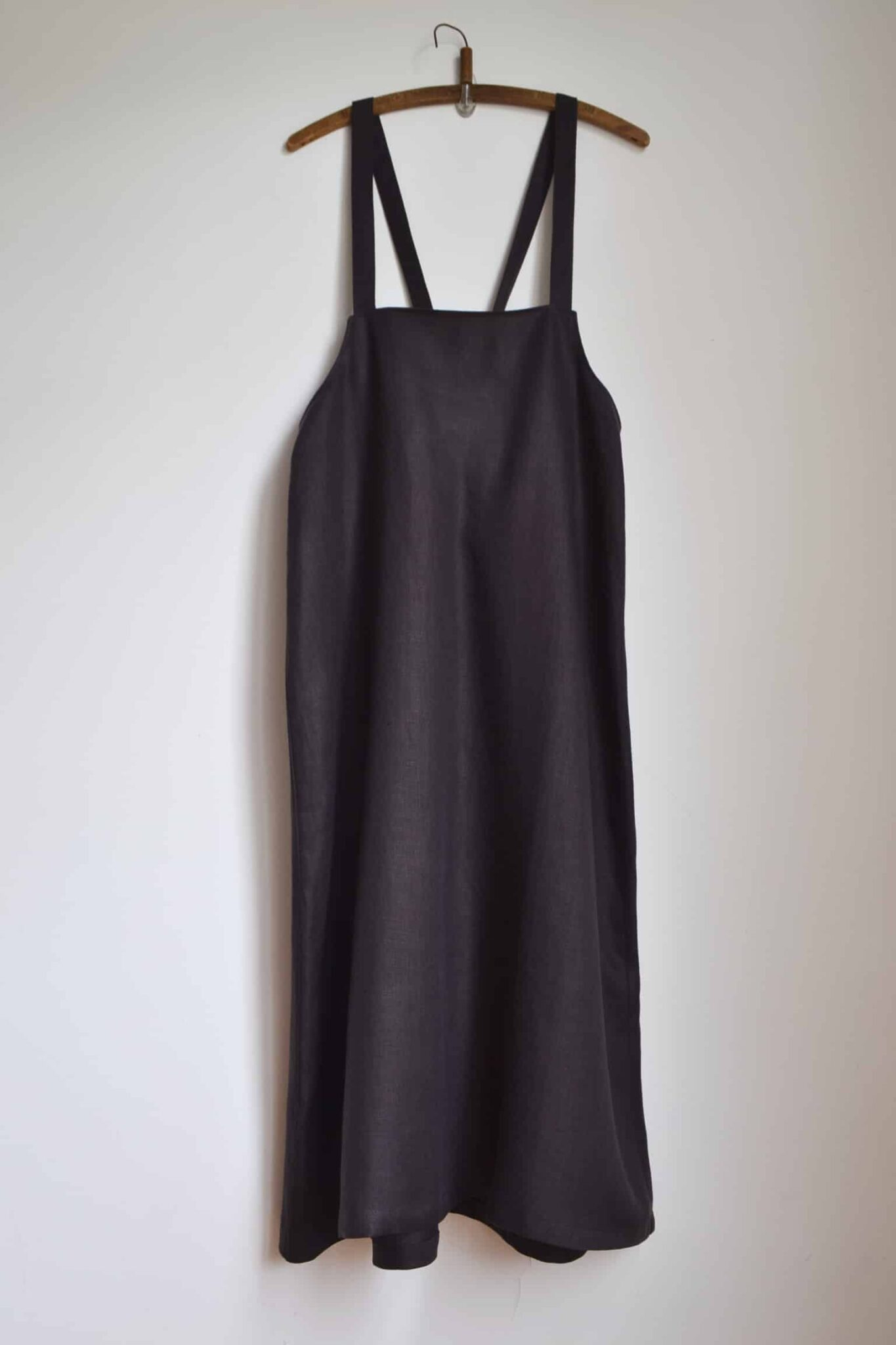 Maxi Salopette Skirt (Chocolate), M Size, In Pure Linen Twill By à Pois