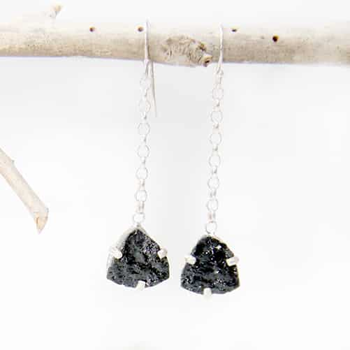 Blk Tourmaline Hooks By TLH Inspired