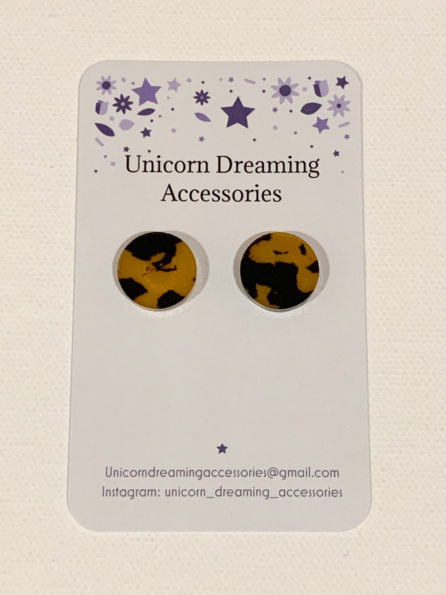 Leopard Studs By Unicorn Dreaming Accessories