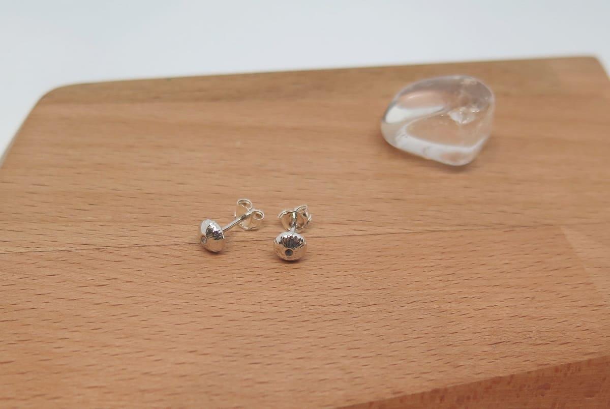 Sea Urchins Sterling Silver Stud Earrings By GermanoArts