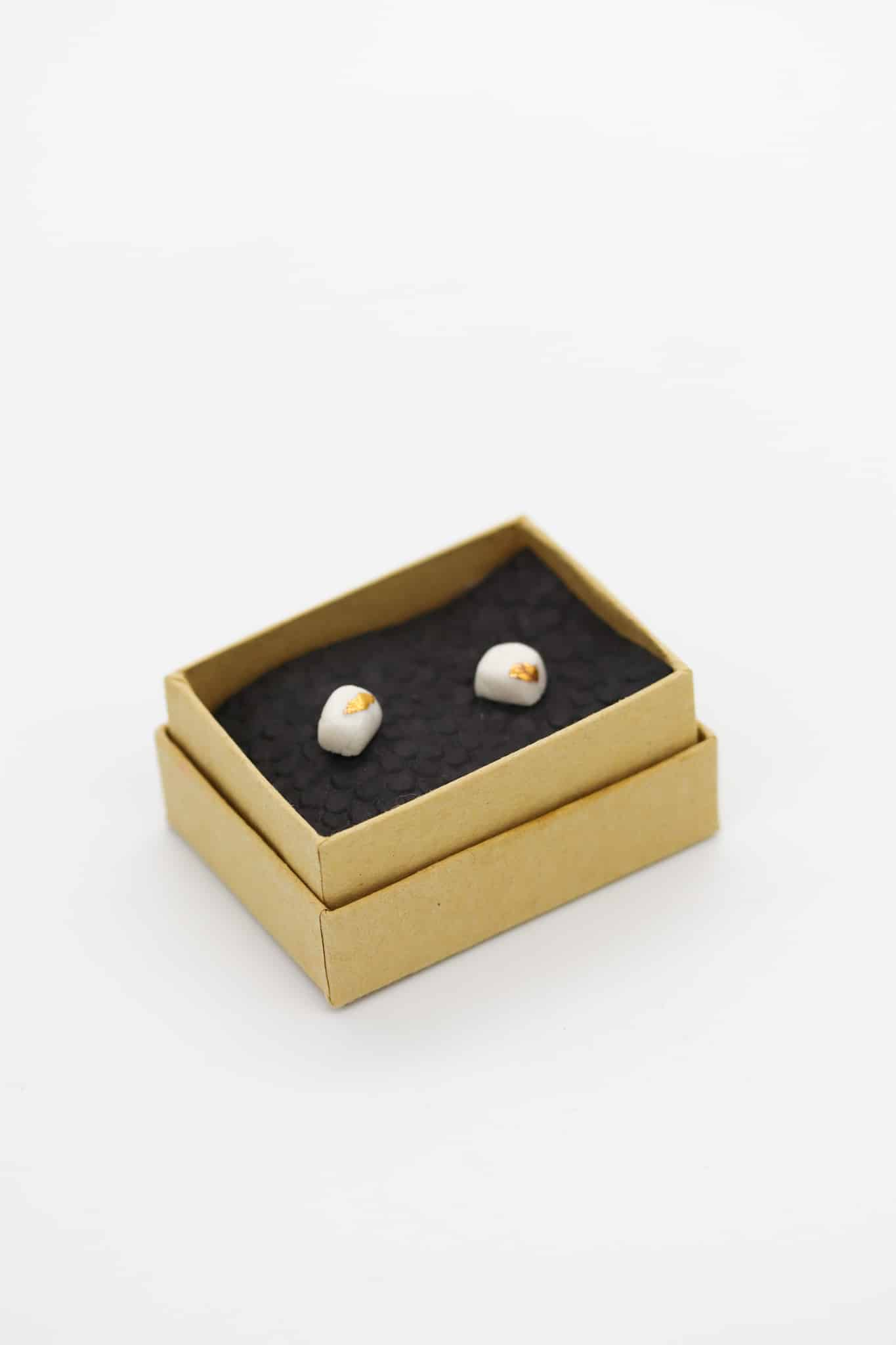 Lumina Porcelain Studs By Of That Ilk