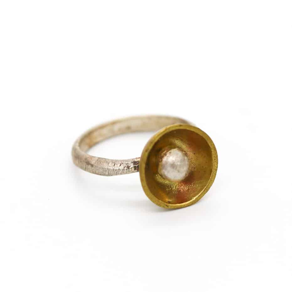 Brass And Sterling Silver Ring By Of That Ilk