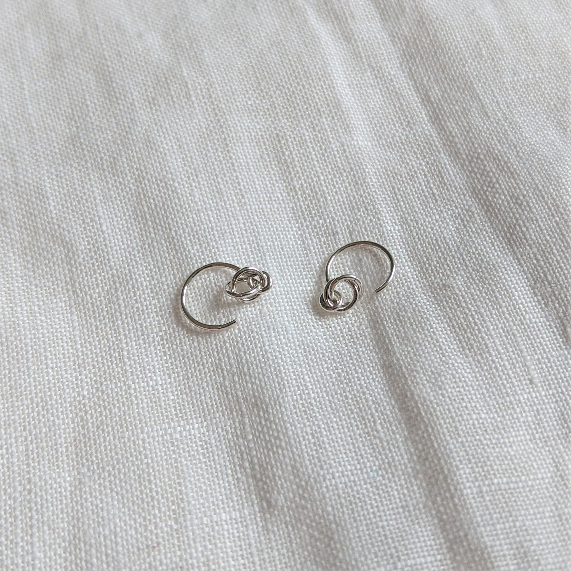 Alto Ear-Hugger Earrings In Recycled Argentium Silver By Little Hangings