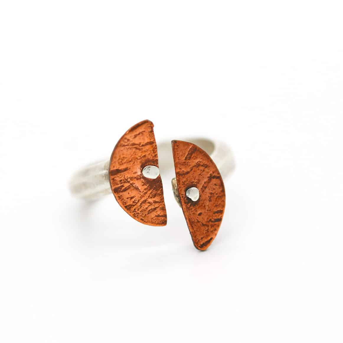 Copper And STG Split Ring By Of That Ilk