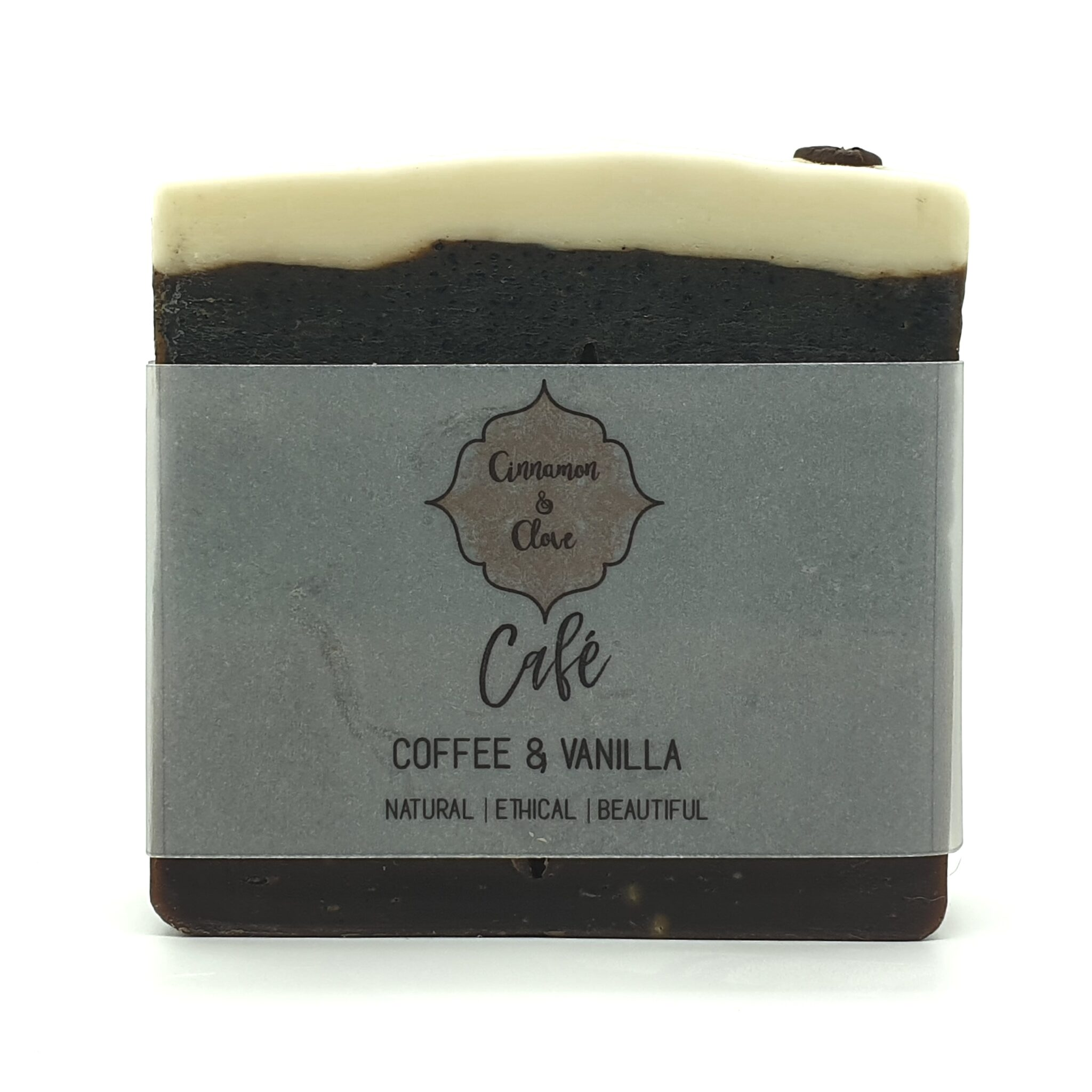 Cafe – Coffee And Vanilla Handcrafted Exfoliating All Natural Artisan Soap By Cinnamon And Clove (Fitzroy)