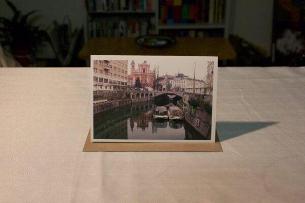 greeting-card-ljubljanica-river-with-boats-by-genevieve-engelhardt-935095-genengelhardt