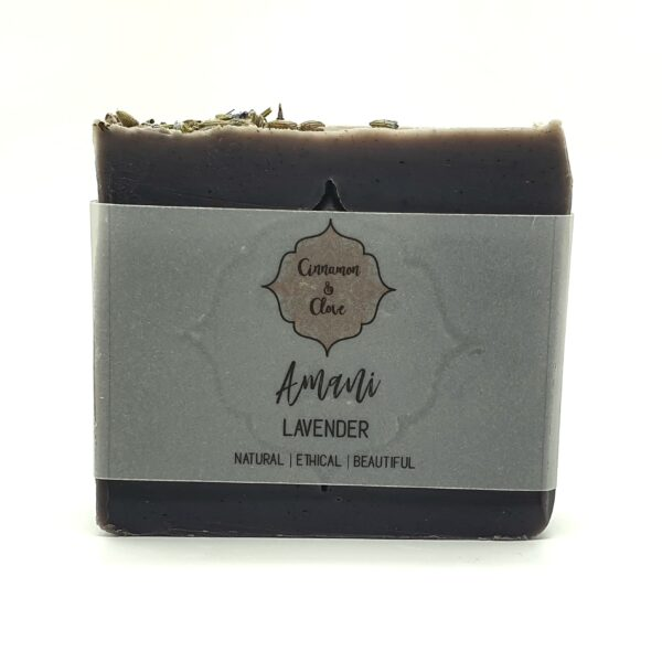 Amani Calming Lavender soap by Cinnamon and Clove