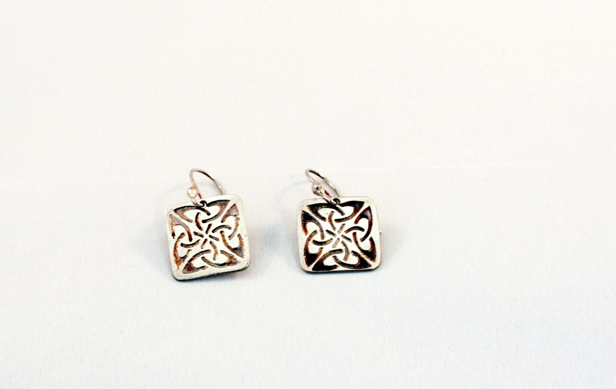 Celtic Earrings (square) By The Silver Goose