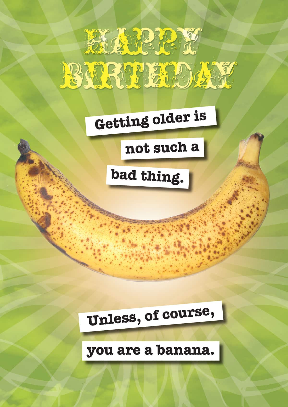 CARD –  BIRTHDAY BANANA By Look Mama