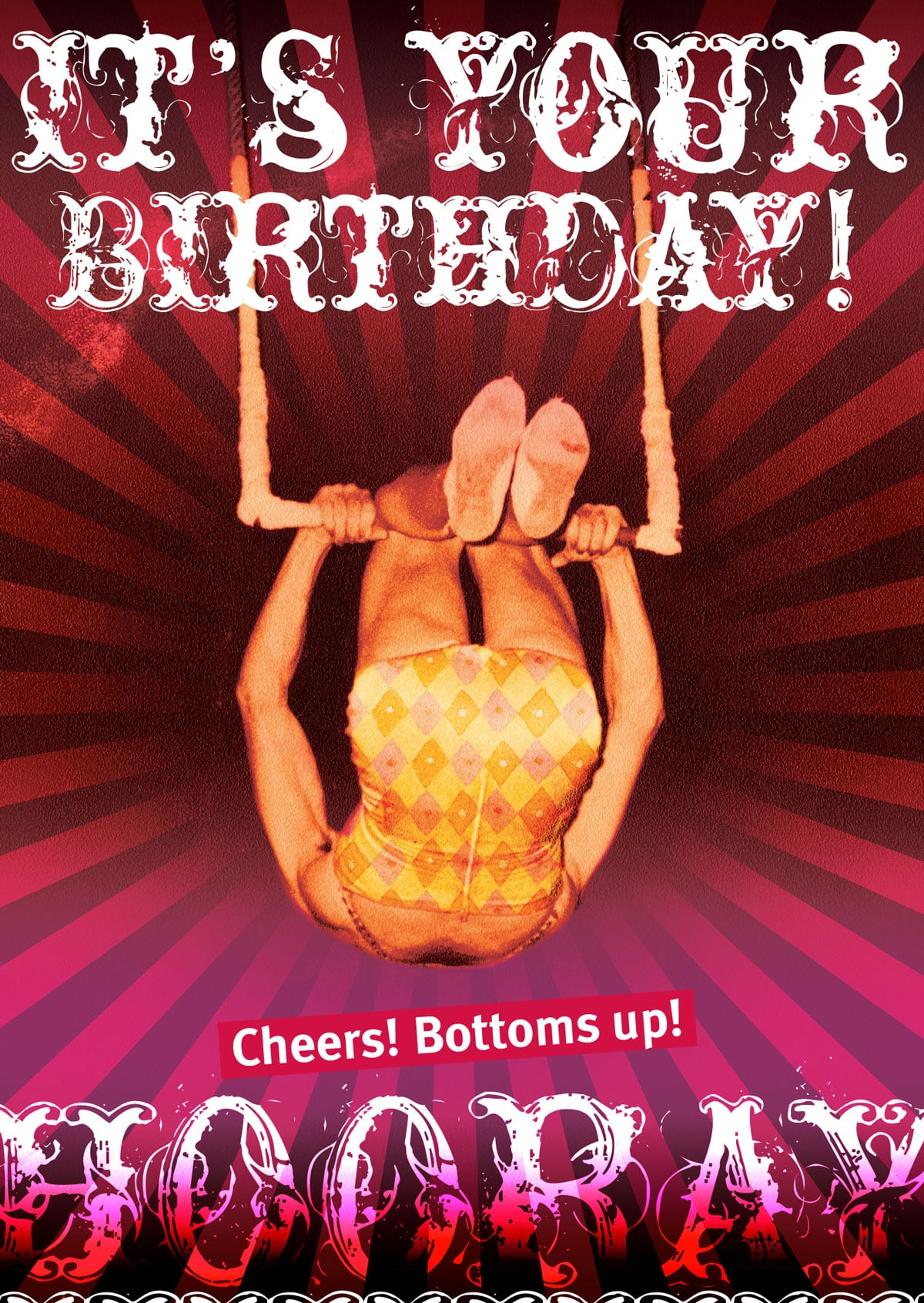 CARD – BOTTOMS UP By Look Mama