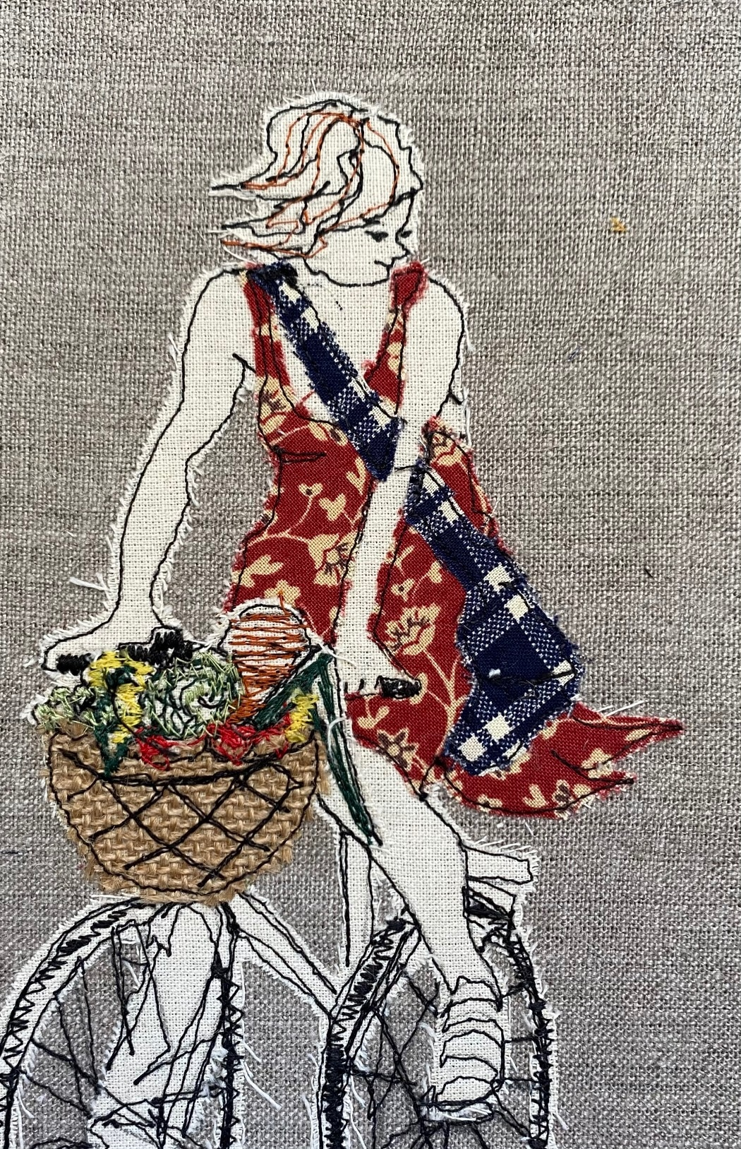 Liberté Original Textile Artwork By  Juliet D Collins (Prahran)
