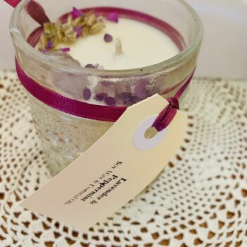 vintage-quilted-jar-soy-candle-lavender-amp-peppermint-fragranced-with-dried-lavender-and-amethyst-crystal-on-top-by-kate-and-rose-by-katenrosetea