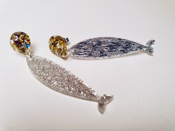 large-silver-sardines-earrings-with-gold-amp-silver-drops-earrings-by-kate-and-rose-prahran-by-katenrosetea