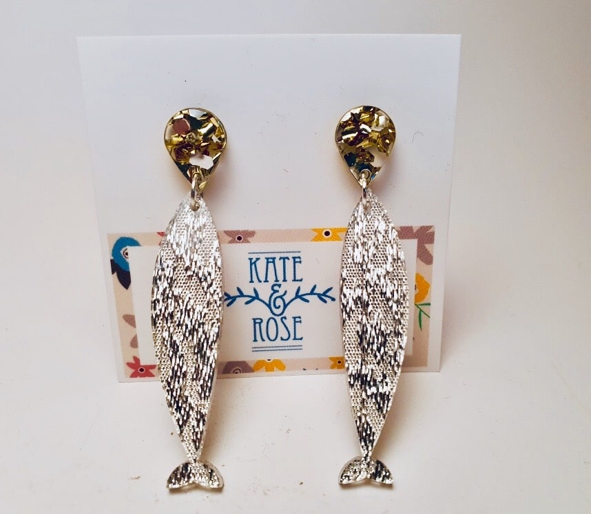 Sardines (silver Glitter) & Gold & Silver Drops  By Kate And Rose (Fitzroy) – $19.95