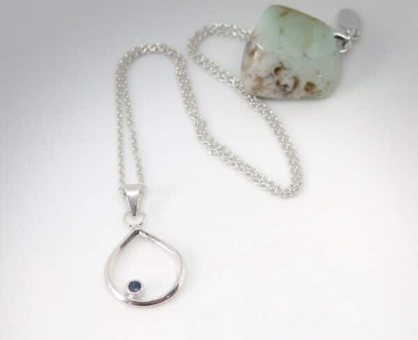 blue-sapphire-amp-sterling-silver-teardrop-necklace-by-Germano Arts