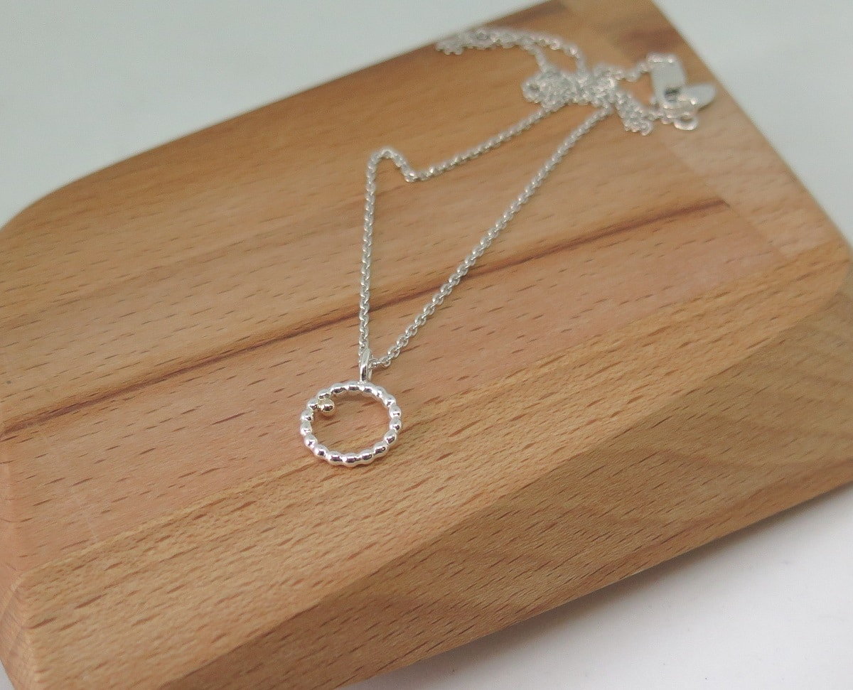 S/Silver & 14kt Gold Necklace  By GermanoArts