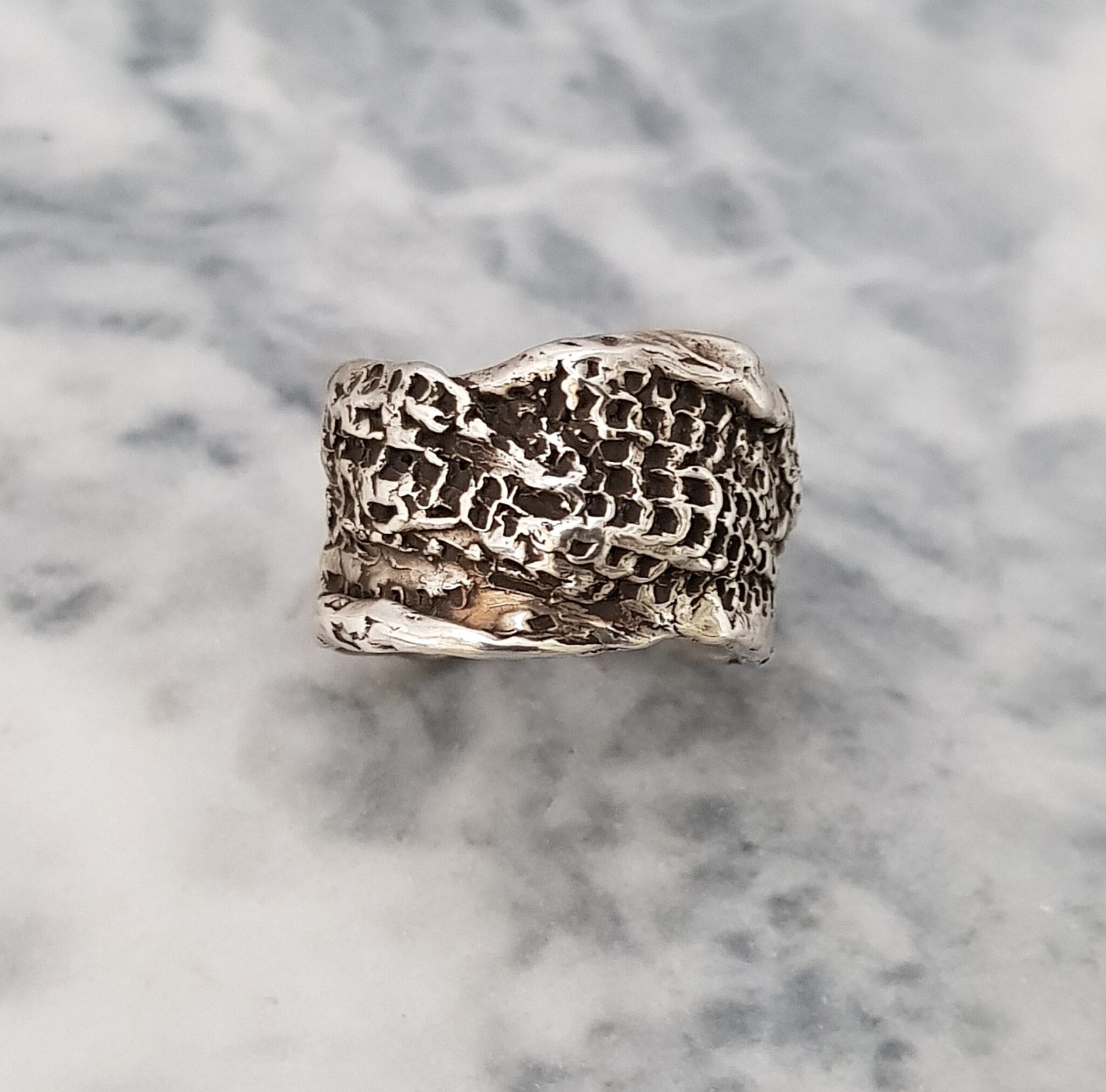 Textured Wrapped Ring, Size Q By Corinne Lomon