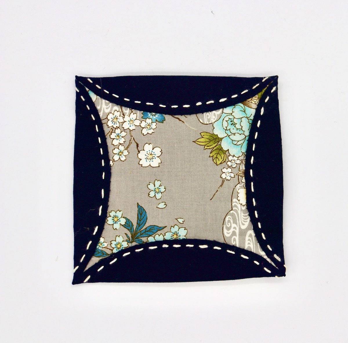Kimono Floral Coaster  By Get Fired Up Art