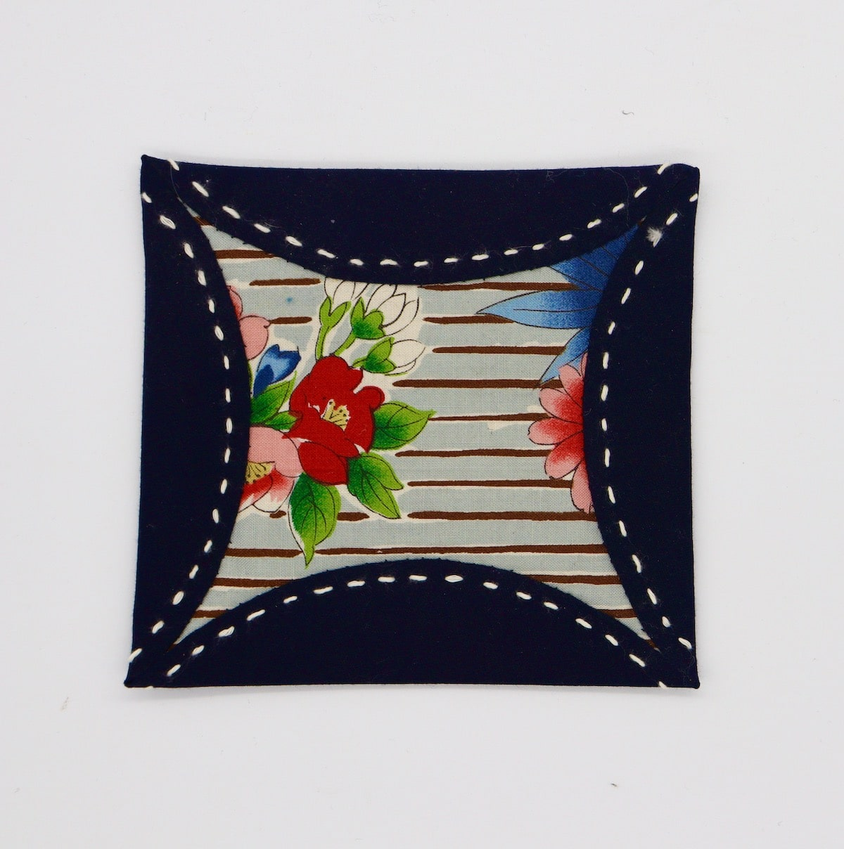 Japanese Posy Coaster  By Get Fired Up Art
