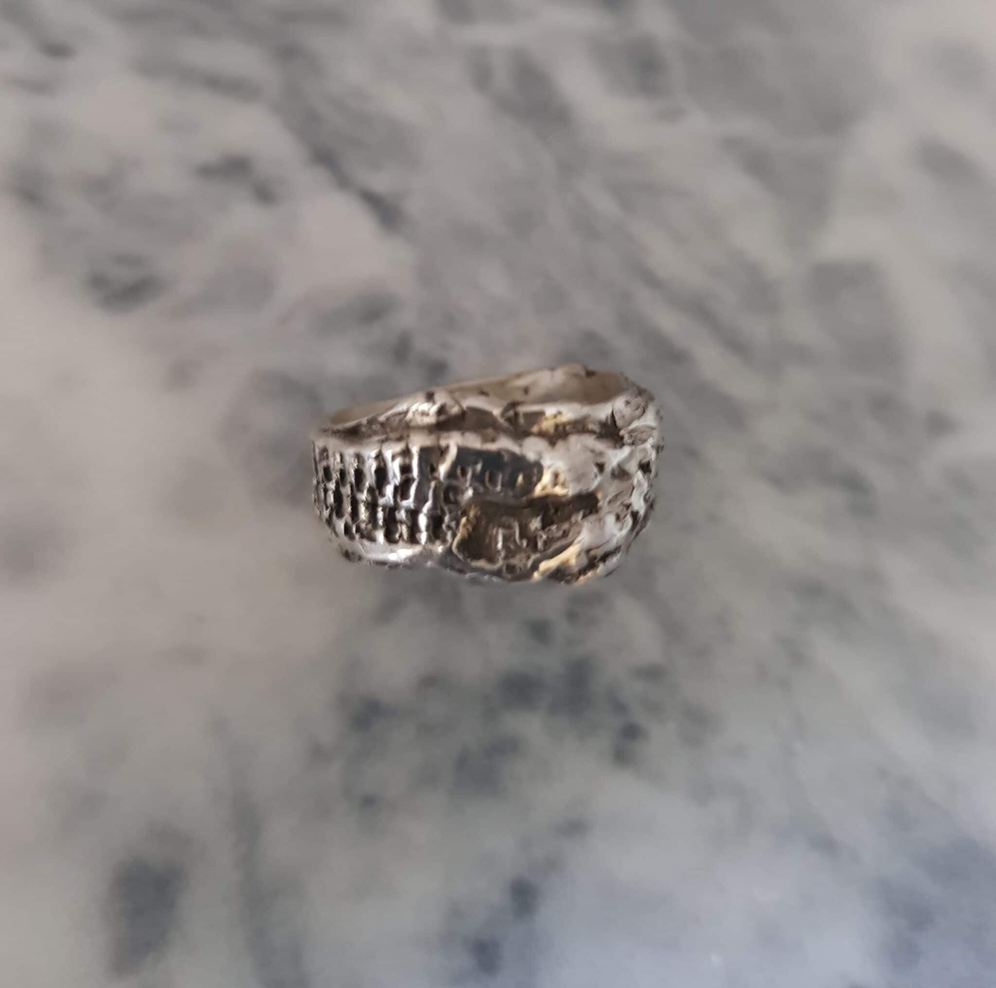 Size M Textured Wrapped Ring By Corinne Lomon