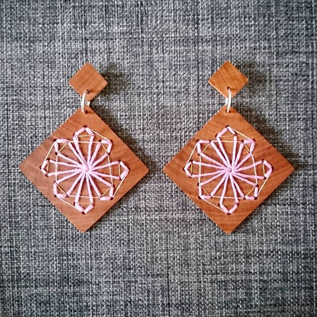 Recycled Timber Earrings – Windmills By CO'B By Design