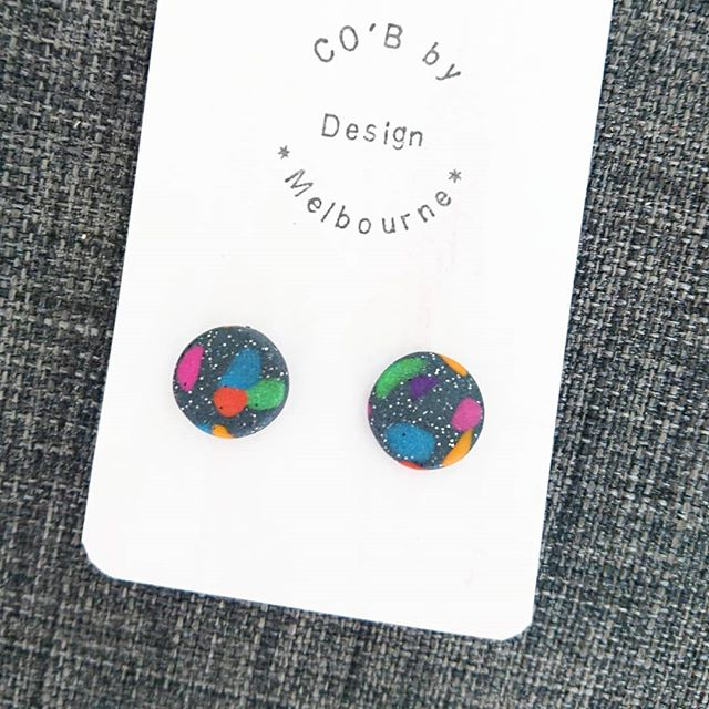 Multicoloured Studs By CO'B By Design