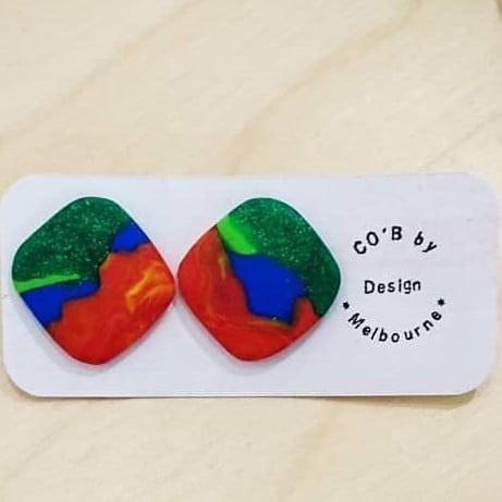 Rainbow Lorikeet Studs By CO'B By Design