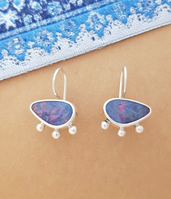 sw1219-160-opal-and-blob-static-ears-by-flying-lobster-jewellery-by-flyinglobster