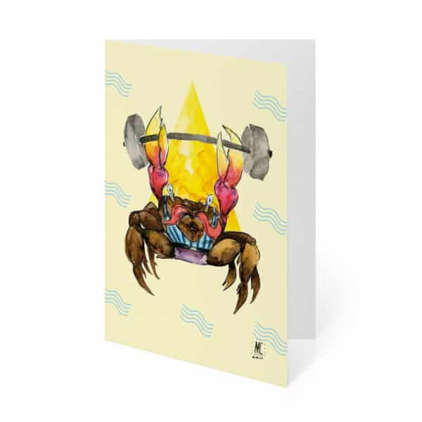 strong-man-crab-card-by-mc-drawn by mirandacosta