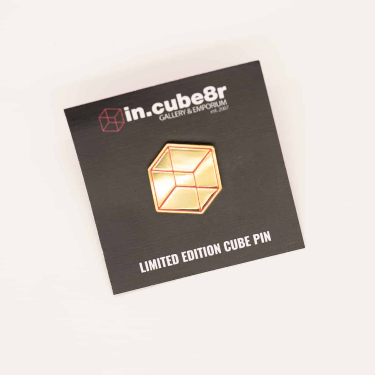 IN.CUBE8R Promotional Cube Enamel Pin