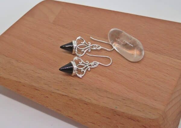 black-agate-earrings-by-germanoarts by Germano Arts