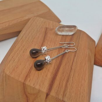 smoky-quartz-earrings-by-germanoarts by Germano Arts