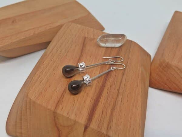 smoky-quartz-earrings-by-germanoarts by Germano Arts